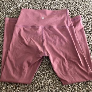 Lululemon Mauve 7/8 Leggings